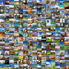 viaggiare collage globale