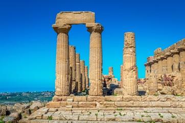 Agrigente.La vallée des temples.Temple d'Héra ou Junon Lacinienne.