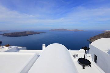 White architecture of  Santorini island, Greece