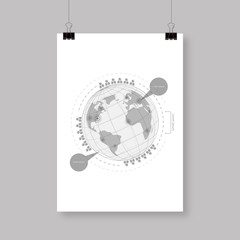A4 / A3 format poster minimal abstract design