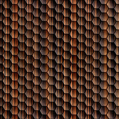 Abstract wooden grid - seamless background - Ebony wood texture
