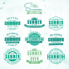 Collection of summer sales related vintage labels