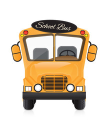 yellow school bus illustration isolated