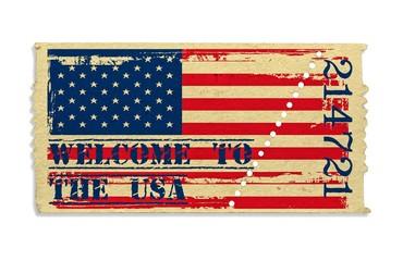 Eintrittskarte - Welcome To The USA