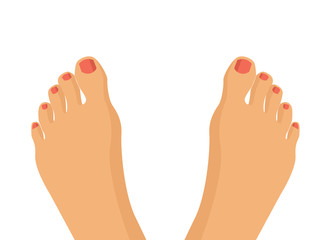 Vector feet flat illustration