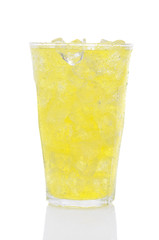 Glass of Lemon Lime Soda and Ice