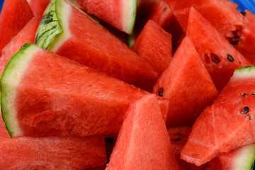 Watermelon Wedges Closeup