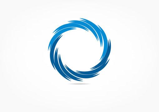 swirl logo, fan concept design