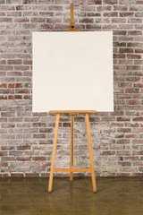 Easel with square canvas