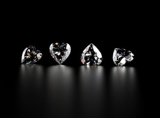 Gemstone on black. J