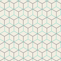 Vector Retro Hexagon Pattern Illustration
