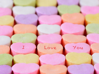 I Love You on Candy Hearts