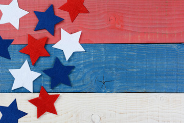 Stars on Red White and Blue Table