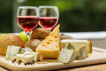 Wine, Cheese, Food.
