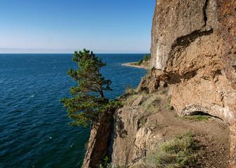 Scala runs through the lake Baikal