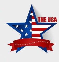 Happy independence day card United States of America. American F