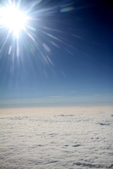Photo taken from right window of a plane during flight from Poland to Brazil through Germany.