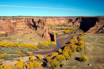 Canyon de Chelly National Monument in autumn