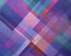 abstract background purple blue and pink square and diamond shaped transparent layers in diagonal pattern background