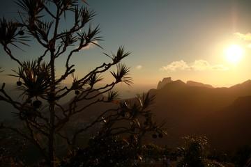 Photo taken during sunset at Corcovado mountain in Rio de Janeiro, Brazil.