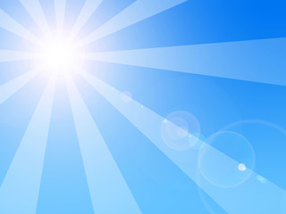 Soleil rayons