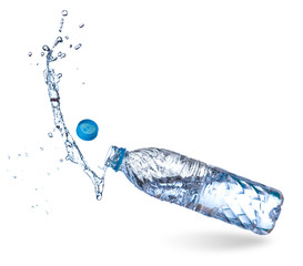 Water up from a plastic bottle