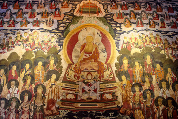 Ancient painting about Buddha