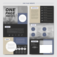 modern one page website design template