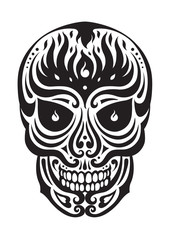 sugar skull day of the dead illustrations design
