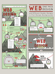 adorable one page website design template