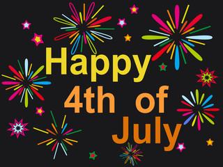 happy july 4th firework background