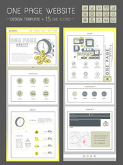 business concept one page website design