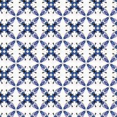 Seamless geometric floral pattern.