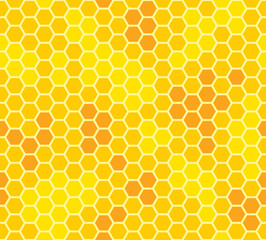 honeycomb with honey seamless pattern