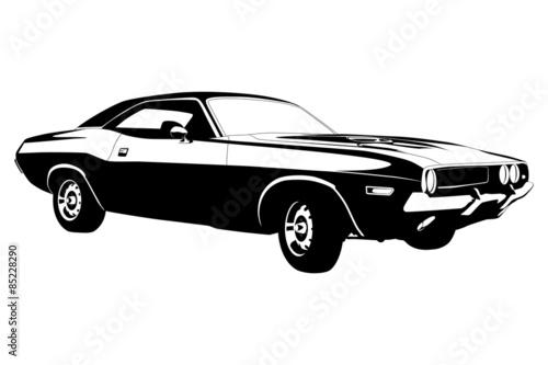american muscle car stockfotos und lizenzfreie vektoren. Black Bedroom Furniture Sets. Home Design Ideas