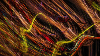 Artistic chaos of thin stripes