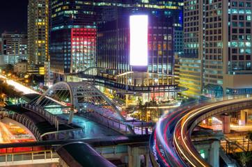 Bangkok Traffic at night.