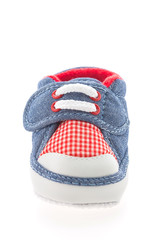 Baby boy shoes isolated