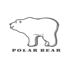 White polar bear  for  logo design