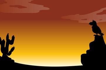 Silhouette desert