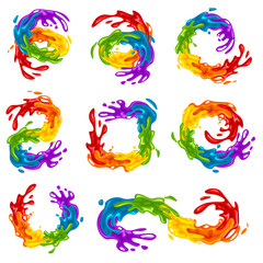 Vibrant Splashes in LGBT Colors