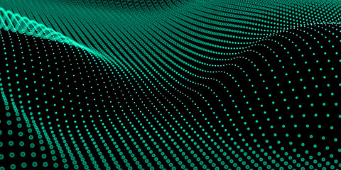 Photo sur Plexiglas Abstract wave Abstract bokeh dots waves