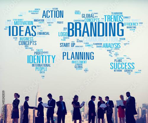 "Branding Ideas Commercial Advertising Trademark Concept"" Stock photo ..."