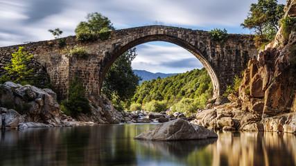 Canvas Prints Bridge Ancient Roman bridge. Spain. Avila
