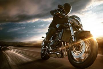 Fast Motorbike Wall mural