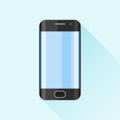 Mobile phone, smartphone flat icon