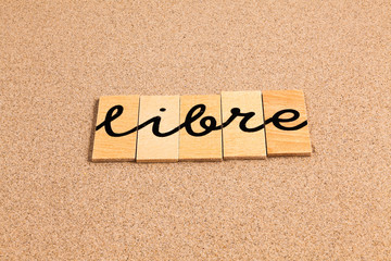 Words formed from small pieces of wood, libre