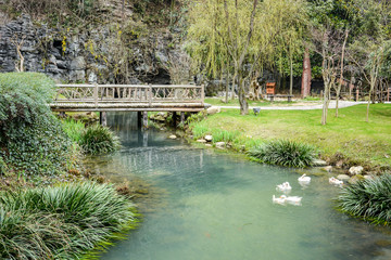 Beautiful part of chinese garden