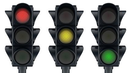 Three traffic lights Fotomurales