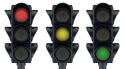 Three traffic lights